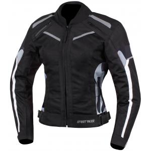 Damska kurtka motocyklowa Street Racer Betty czarno-biało-camo