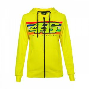 Damska bluza VR46 Valentino Rossi STRIPES Fleece żółta