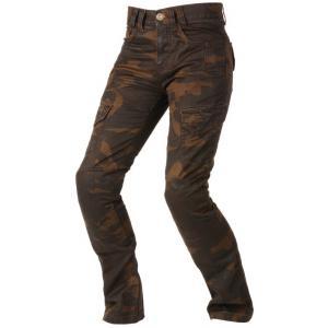 Damskie jeansy motocyklowe Ayrton Camino brązowe camo