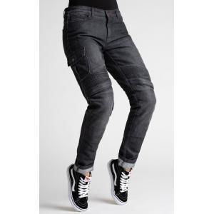 Damskie jeansy motocyklowe BROGER Ohio czarne wyprzedaż