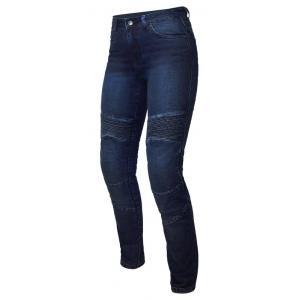Damskie jeansy motocyklowe Ozone Agness II niebieskie