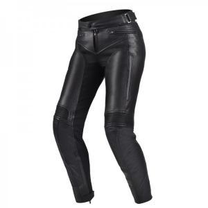 Damskie skórzane spodnie motocyklowe Shima Monaco czarne wyprzedaż