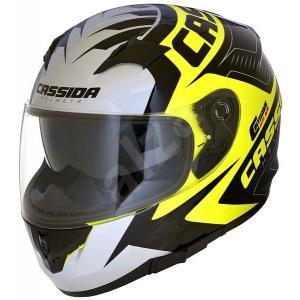 Integralny kask motocyklowy Cassida Integral 2.0 Perimetric fluo żółto-czarno-szary