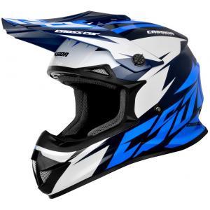 Motocrossowy kask Cassida Cross Cup Two czarno-biało-niebieski
