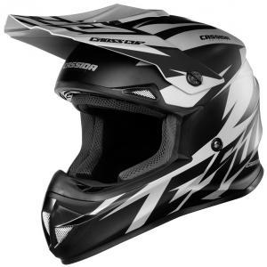 Motocrossowy kask Cassida Cross Cup Two czarno-szary