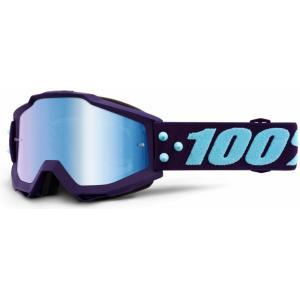 Gogle 100% Accuri MANEUVER (niebieska lustrzana szyba) wyprzedaż