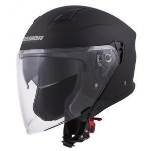 Otwarty kask motocyklowy Cassida Jet Tech czarny matowy