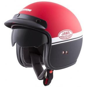 Otwarty kask motocyklowy Cassida Oxygen Jawa OHC czerwono-czarno-biały