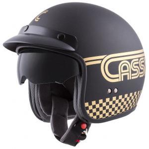 Otwarty kask motocyklowy Cassida Oxygen Rondo czarno-złoty