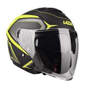 Otwarty kask motocyklowy Lazer Tango Hexa czarno-fluo żółty wyprzedaż