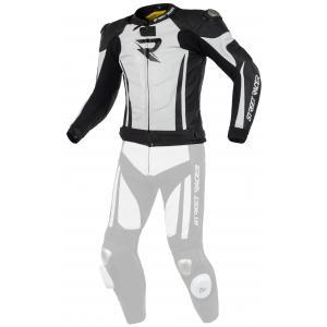 Skórzana kurtka motocyklowa Street Racer Fasttrack czarno-biała