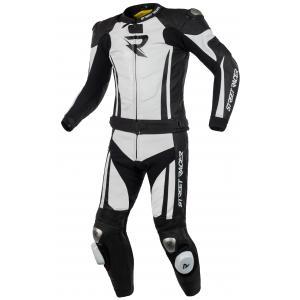 Kombinezon motocyklowy Street Racer Fasttrack czarno-biały