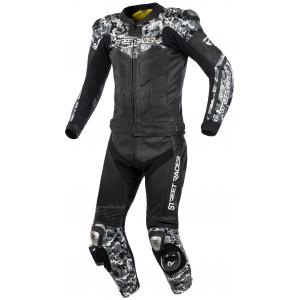 Kombinezon motocyklowy Street Racer Pattern czarno-szary
