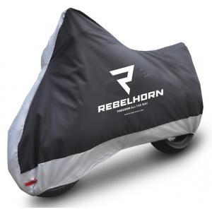 Pokrowiec motocyklowy Rebelhorn Cover II czarno-srebrny