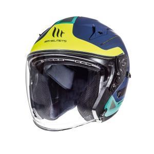 Otwarty kask motocyklowy MT Avenue SV Crossroad niebieski matowy-fluo żółty wyprzedaż