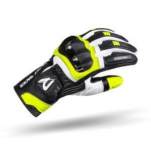 Rękawice motocyklowe Street Racer GPR czarno-biało-fluo żółte