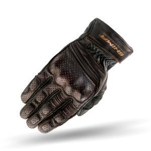 Rękawice motocyklowe Shima Aviator ciemno brązowe