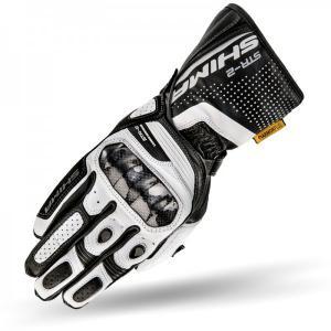 Rękawice motocyklowe Shima STR-2 biało-czarne