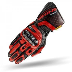 Rękawice motocyklowe Shima STR-2 czarno-czerwone
