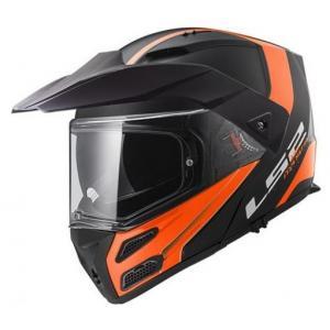 Szczękowy kask motocyklowy LS2 FF324 Metro Rapid czarno-pomarańczowy wyprzedaż