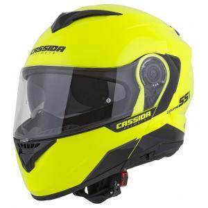 Szczękowy kask motocyklowy Cassida Compress 2.0 Refraction czarno-fluo żółty