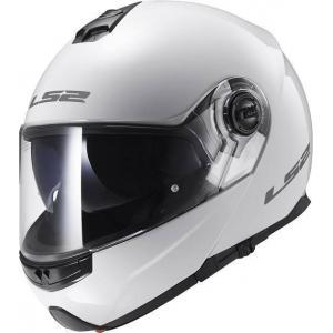 Szczękowy kask motocyklowy LS2 FF325 Strobe biały