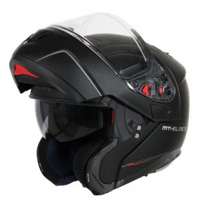 Szczękowy kask motocyklowy MT Atom czarny matowy