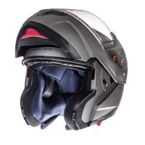 Szczękowy kask motocyklowy MT Atom tytanowy