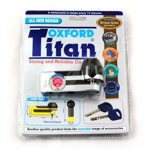 Blokada hamulca tarczowego Oxford Titan chrom