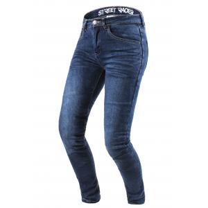 Damskie jeansy motocyklowe Street Racer Daily niebieskie