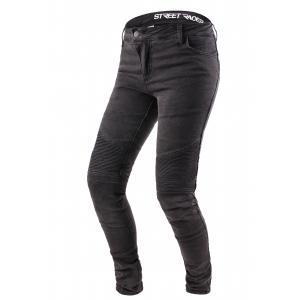Damskie jeansy motocyklowe Street Racer Spike czarne wyprzedaż