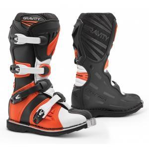 Dziecięce buty motocyklowe Forma Gravity czarno-pomarańczowe