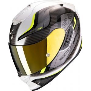 Integralny kask motocyklowy Scorpion EXO-1400 Air Attune biało-szaro-fluo żółty