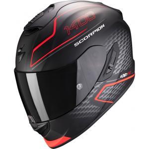 Integralny kask motocyklowy Scorpion EXO-1400 Air Galaxy czarno-fluo czerwony