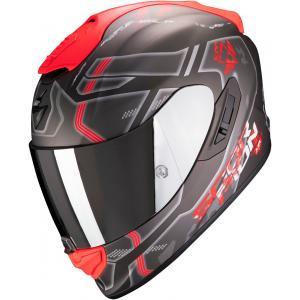 Integralny kask motocyklowy Scorpion EXO-1400 Air Spatium czarno-srebrno-czerwony wyprzedaż
