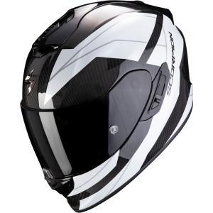 Integralny kask motocyklowy Scorpion EXO-1400 Carbon Air Legione czarno-biały