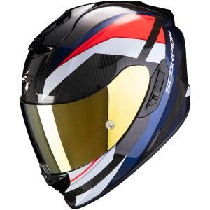 Integralny kask motocyklowy Scorpion EXO-1400 Carbon Air Legione czarno-czerwono-niebieski