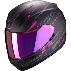 Integralny kask motocyklowy Scorpion EXO-390 Beat czarno-różowy