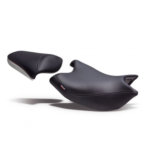 Comfort seat SHAD SHH0NS709CN black/grey, red seams (without logo)