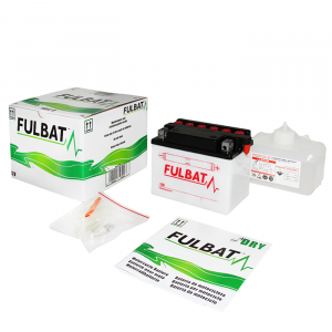 Conventional battery (incl.acid pack) FULBAT FB12A-B  (YB12A-B) Acid pack included