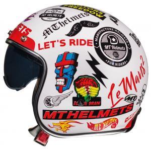 Otwarty kask motocyklowy MT LeMans 2 SV Anarchy biały połysk