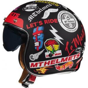 Otwarty kask motocyklowy MT LeMans 2 SV Anarchy czarny matowy