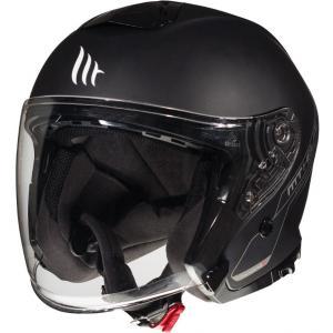 Otwarty kask motocyklowy MT Thunder 3 SV Solid czarny matowy