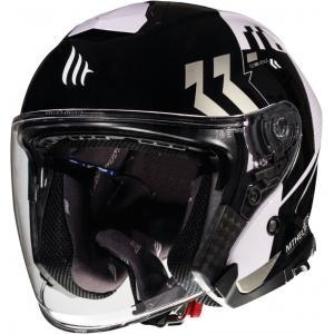 Otwarty kask motocyklowy MT Thunder 3 SV Venus czarno-szaro-biały