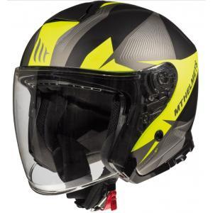Otwarty kask motocyklowy MT Thunder 3 SV Wing czarno-szaro-fluo żółty wyprzedaż