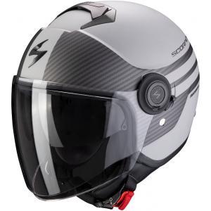 Otwarty kask motocyklowy Scorpion EXO-CITY Moda szaro-czarny wyprzedaż