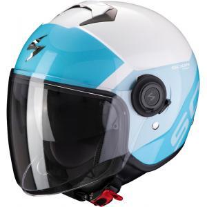 Otwarty kask motocyklowy Scorpion EXO-CITY Sympa biało-niebieski wyprzedaż