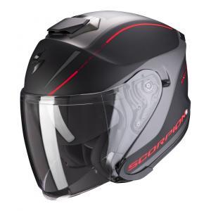 Otwarty kask motocyklowy Scorpion EXO-S1 Shadow czarno-czerwony wyprzedaż