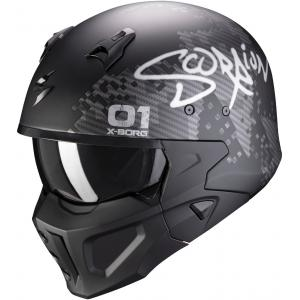 Kask motocyklowy Scorpion COVERT-X Xborg czarno-srebrny