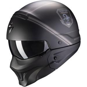 Kask motocyklowy Scorpion EXO-COMBAT EVO Unborn czarno-srebrny